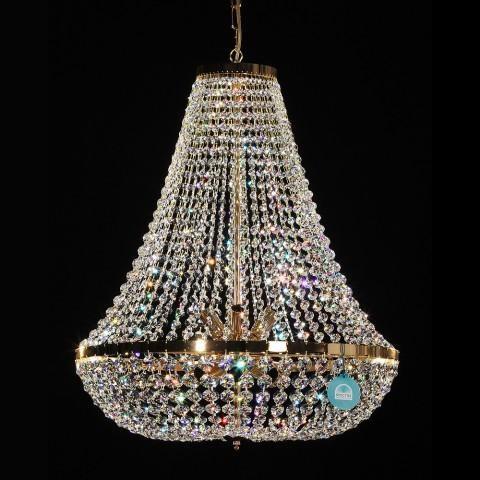 Lustra cristal Swarovski diametru 60cm Gisela II, Lustre Cristal Swarovski , Corpuri de iluminat, lustre, aplice a