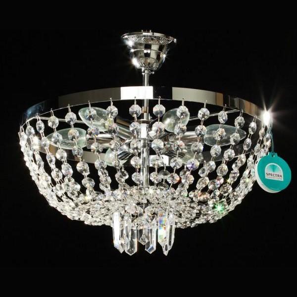 Plafonier Cristal Swarovski diametru 40cm Erika , Plafoniere Cristal Swarovski, Corpuri de iluminat, lustre, aplice a