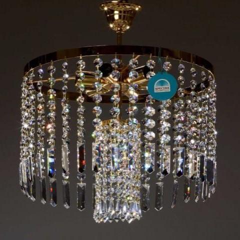 Plafonier cristal Swarovski diametru 40 Raian , Plafoniere Cristal Swarovski, Corpuri de iluminat, lustre, aplice a