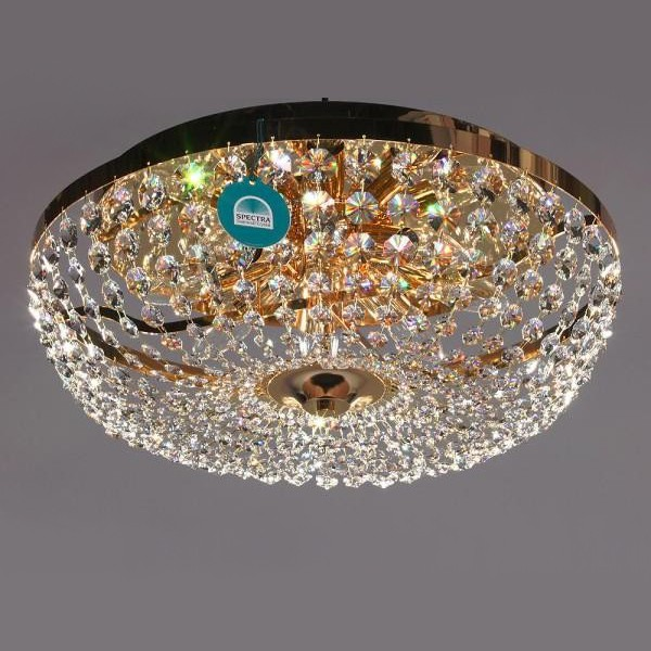 Plafonier diametru 60cm Cristal Swarovski Vivien, Plafoniere Cristal Swarovski, Corpuri de iluminat, lustre, aplice a