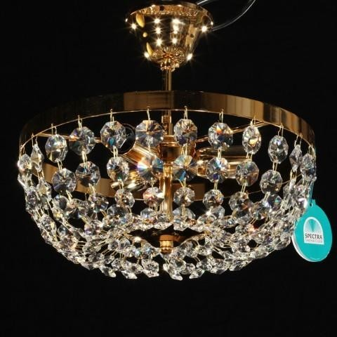 Plafonier diametru 30cm Cristal Swarovski Petra 30, Plafoniere Cristal Swarovski, Corpuri de iluminat, lustre, aplice a