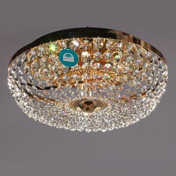 Plafonier diametru 50cm Cristal Swarovski Vivien, Plafoniere Cristal Swarovski, Corpuri de iluminat, lustre, aplice a