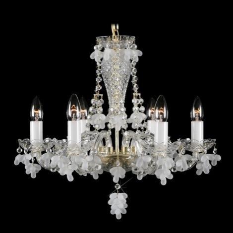 Lustra 6 brate cristal Boemia L11 005/06/7 mat, Lustre Cristal Bohemia, Corpuri de iluminat, lustre, aplice a