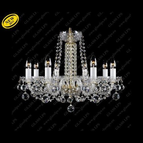 Lustra 8 brate cristal Bohemia L11 007/08/4, Lustre Cristal Bohemia, Corpuri de iluminat, lustre, aplice a
