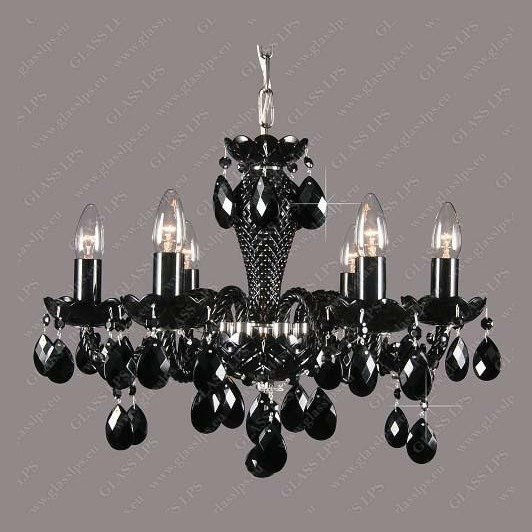 Lustra 6 brate cristal Bohemia L11 210/06/1 all black; Ni, Lustre Cristal Bohemia, Corpuri de iluminat, lustre, aplice, veioze, lampadare, plafoniere. Mobilier si decoratiuni, oglinzi, scaune, fotolii. Oferte speciale iluminat interior si exterior. Livram in toata tara.  a