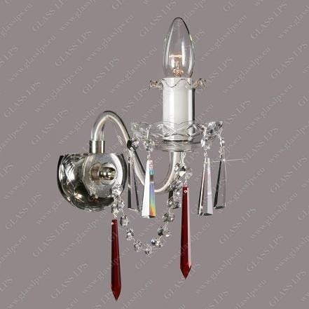 Aplica cristal Bohemia N21 125/01/3-K, 3-H ruby; Ni, lip., Aplice Cristal Bohemia, Corpuri de iluminat, lustre, aplice, veioze, lampadare, plafoniere. Mobilier si decoratiuni, oglinzi, scaune, fotolii. Oferte speciale iluminat interior si exterior. Livram in toata tara.  a