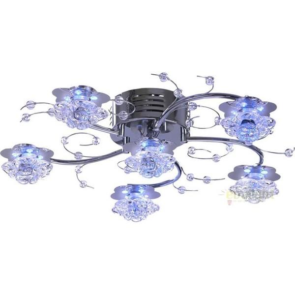 Lustra LED cu Telecomanda Lacai 68330-6 GL, Lampi LED si Telecomanda, Corpuri de iluminat, lustre, aplice a