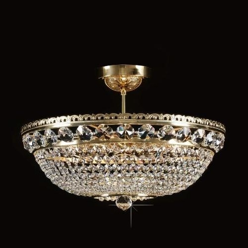 Plafonier cristal Bohemia diametru 50cm L15 165/09/6, Plafoniere Cristal Bohemia, Corpuri de iluminat, lustre, aplice a