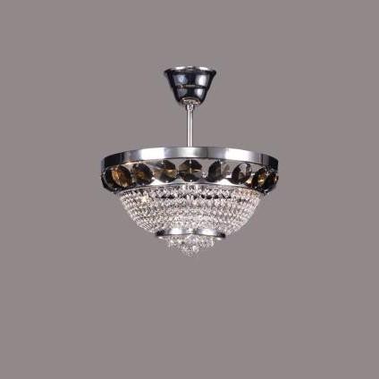 Plafonier cristal Bohemia color diametru 30cm metal Silver, L15 166/02/6, Plafoniere Cristal Bohemia, Corpuri de iluminat, lustre, aplice a
