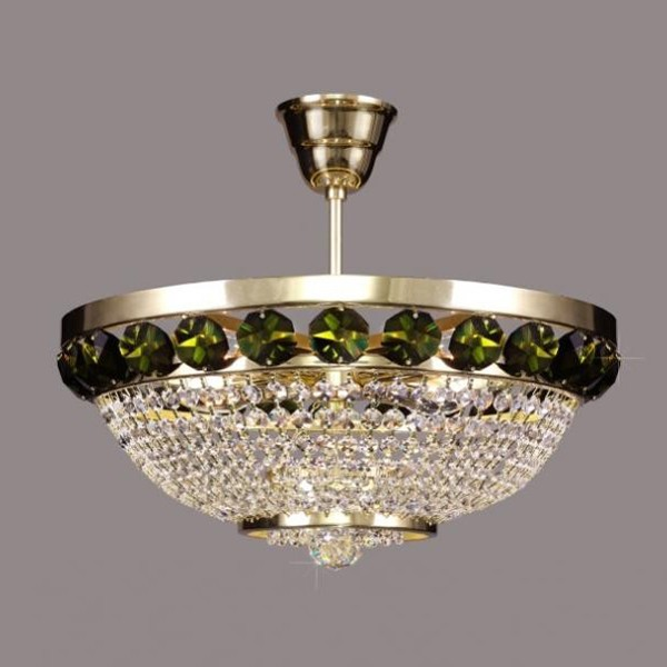 Plafonier cristal Bohemia color diametru 40cm L15 166/04/6, Plafoniere Cristal Bohemia, Corpuri de iluminat, lustre, aplice a