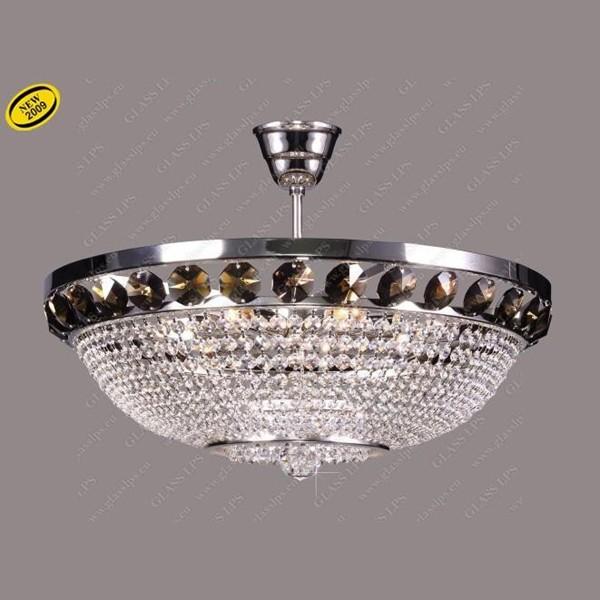 Plafonier cristal Bohemia color diametru 50cm L15 166/07/6, Plafoniere Cristal Bohemia, Corpuri de iluminat, lustre, aplice a