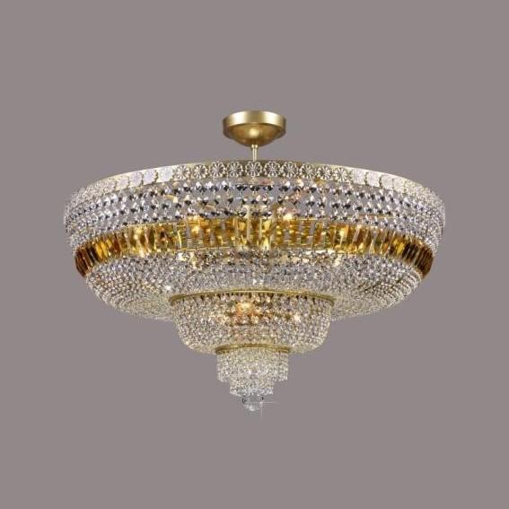 Plafonier cristal Bohemia color diametru 80cm L15 506/12/3-SK, Plafoniere Cristal Bohemia, Corpuri de iluminat, lustre, aplice a