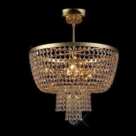 Plafonier cristal Bohemia diametru 40cm L15 757/05/6, Plafoniere Cristal Bohemia, Corpuri de iluminat, lustre, aplice a