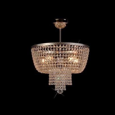 Plafonier cristal Bohemia diametru 40cm L15 757/05/6; Ni, Plafoniere Cristal Bohemia, Corpuri de iluminat, lustre, aplice a