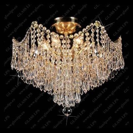 Plafonier cristal Bohemia diametru 50cm L15 831/06/3, Plafoniere Cristal Bohemia, Corpuri de iluminat, lustre, aplice a