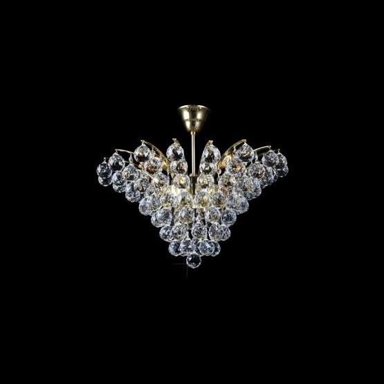 Plafonier cristal Bohemia diametru 54cm L15 555/06/4, Plafoniere Cristal Bohemia, Corpuri de iluminat, lustre, aplice a
