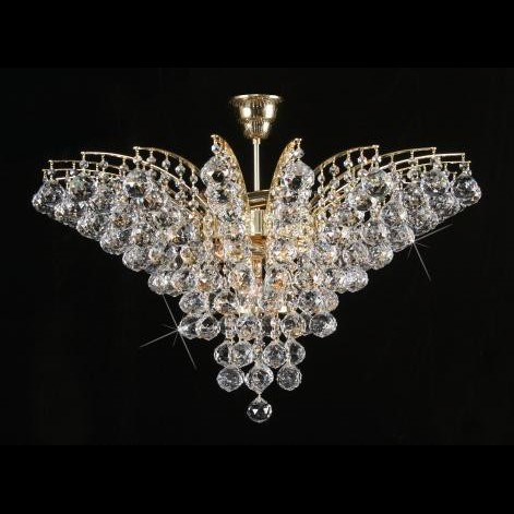 Plafonier cristal Bohemia diam. 72cm L15 555/09/4, Plafoniere Cristal Bohemia, Corpuri de iluminat, lustre, aplice a