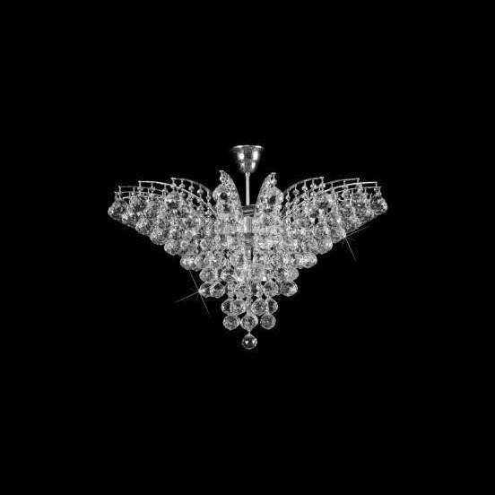 Plafonier cristal Bohemia diametru 72cm L15 555/11/4;Ni, Plafoniere Cristal Bohemia, Corpuri de iluminat, lustre, aplice a