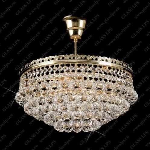 Plafonier cristal Bohemia diametru 35cm L15 523/04/4, Plafoniere Cristal Bohemia, Corpuri de iluminat, lustre, aplice a