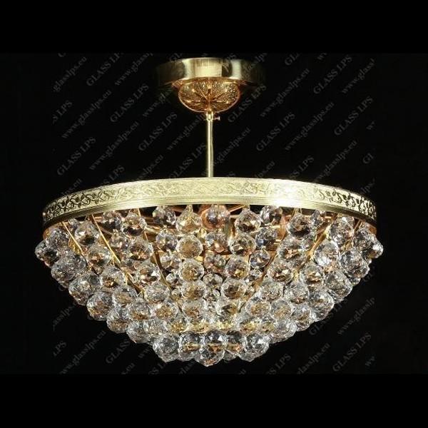 Plafonier cristal Bohemia diametru 40cm L15 521/06/4, Plafoniere Cristal Bohemia, Corpuri de iluminat, lustre, aplice a