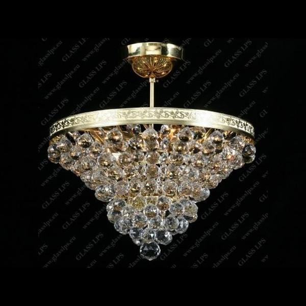 Plafonier cristal Bohemia diametru 40cm L15 522/06/4, Plafoniere Cristal Bohemia, Corpuri de iluminat, lustre, aplice a