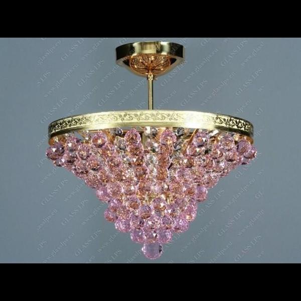Plafonier cristal Bohemia color diam. 40cm L15 522/06/4 rosalin, Magazin, Corpuri de iluminat, lustre, aplice a