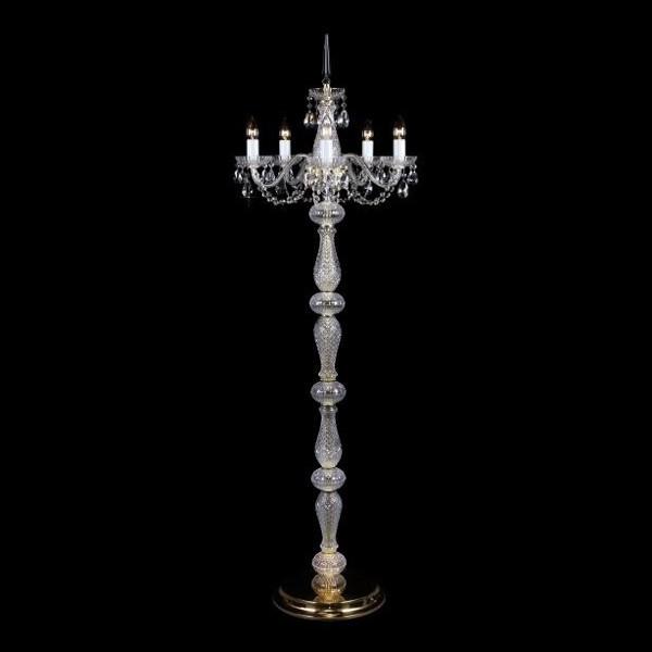 Lampadar 5 brate cristal Bohemia S41 006/05/1-A, Lampadare Cristal Bohemia, Corpuri de iluminat, lustre, aplice, veioze, lampadare, plafoniere. Mobilier si decoratiuni, oglinzi, scaune, fotolii. Oferte speciale iluminat interior si exterior. Livram in toata tara.  a
