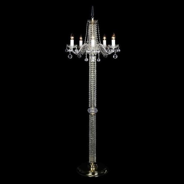 Lampadar 5 brate cristal Bohemia S41 007/05/4, Lampadare Cristal Bohemia, Corpuri de iluminat, lustre, aplice, veioze, lampadare, plafoniere. Mobilier si decoratiuni, oglinzi, scaune, fotolii. Oferte speciale iluminat interior si exterior. Livram in toata tara.  a