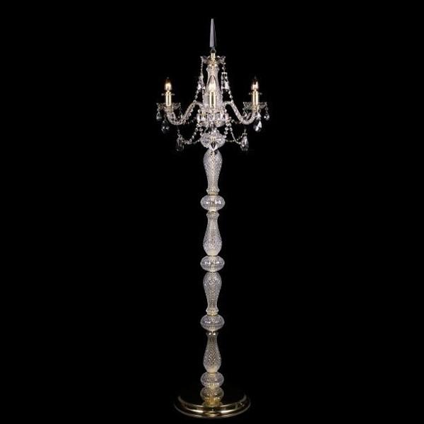 Lampadar 3 brate cristal Bohemia S41 009/03/1-A; GOLD, lip., Magazin, Corpuri de iluminat, lustre, aplice, veioze, lampadare, plafoniere. Mobilier si decoratiuni, oglinzi, scaune, fotolii. Oferte speciale iluminat interior si exterior. Livram in toata tara.  a