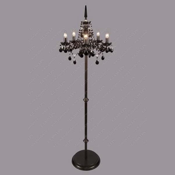 Lampadar cristal Bohemia S41 010/05/1 all black;Ni, Magazin, Corpuri de iluminat, lustre, aplice a