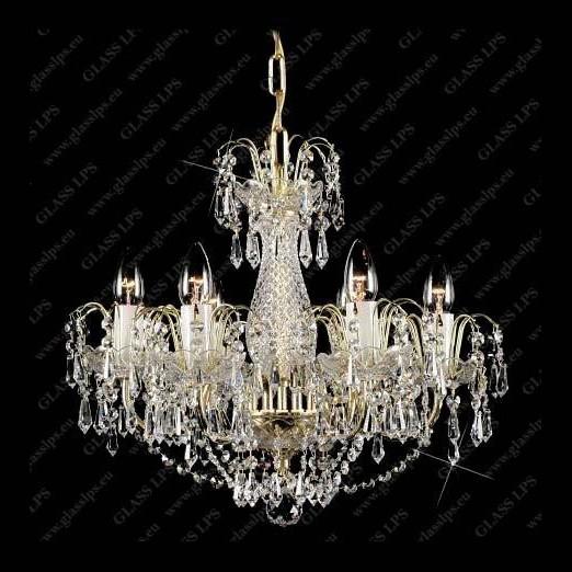 Lustra 6 brate metal cristal Bohemia L12 590/06/3, Lustre Cristal Bohemia, Corpuri de iluminat, lustre, aplice, veioze, lampadare, plafoniere. Mobilier si decoratiuni, oglinzi, scaune, fotolii. Oferte speciale iluminat interior si exterior. Livram in toata tara.  a