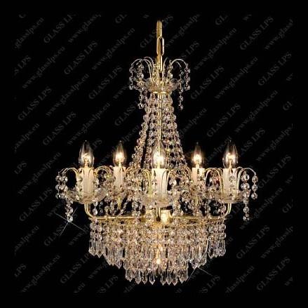 Lustra 6 brate cristal Bohemia L15 168/06/3, Lustre Cristal Bohemia, Corpuri de iluminat, lustre, aplice, veioze, lampadare, plafoniere. Mobilier si decoratiuni, oglinzi, scaune, fotolii. Oferte speciale iluminat interior si exterior. Livram in toata tara.  a