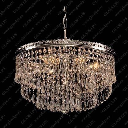 Pendul Lux cristal Bohemia diametru 40cm L15 580/06/3; Ni, Pendule Cristal Bohemia, Corpuri de iluminat, lustre, aplice a