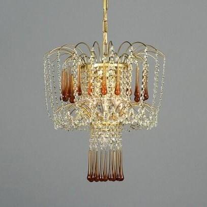 Pendul cristal Bohemia L15 776/04/9 light topaz, Pendule Cristal Bohemia, Corpuri de iluminat, lustre, aplice a