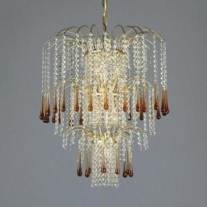 Pendul cristal Bohemia 15 775/07/9 light topaz, Pendule Cristal Bohemia, Corpuri de iluminat, lustre, aplice a