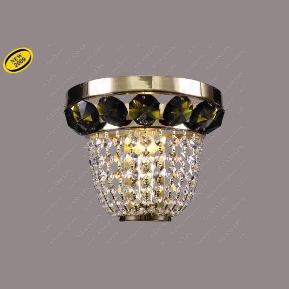 Aplica de perete cristal Bohemia N25 166/01/6, 6 olivine, Aplice Cristal Bohemia, Corpuri de iluminat, lustre, aplice, veioze, lampadare, plafoniere. Mobilier si decoratiuni, oglinzi, scaune, fotolii. Oferte speciale iluminat interior si exterior. Livram in toata tara.  a