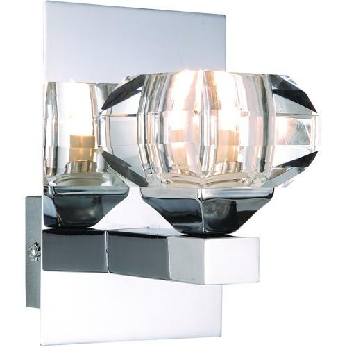 Aplica de perete eleganta Cubus 5692-1W GL, Outlet, Corpuri de iluminat, lustre, aplice, veioze, lampadare, plafoniere. Mobilier si decoratiuni, oglinzi, scaune, fotolii. Oferte speciale iluminat interior si exterior. Livram in toata tara.  a