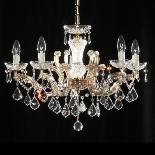 Lustra cristal Swarovski 5 brate diametru 66cm Constanze 5, Lustre Cristal Swarovski , Corpuri de iluminat, lustre, aplice a