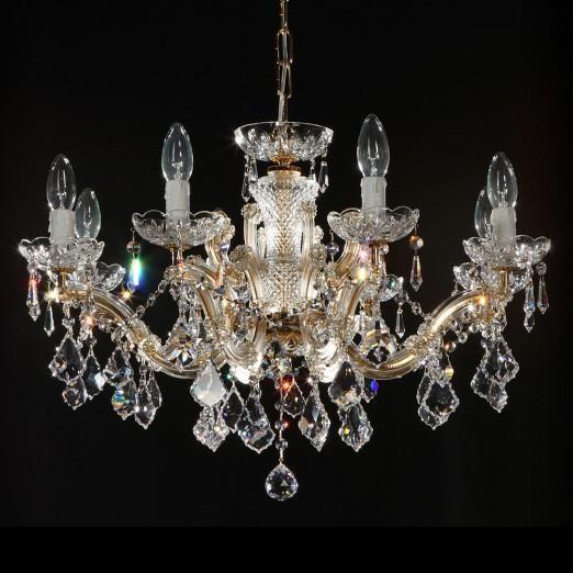 Lustra cristal Swarovski 8 brate diametru 66cm Constanze 8, Lustre Cristal Swarovski , Corpuri de iluminat, lustre, aplice a