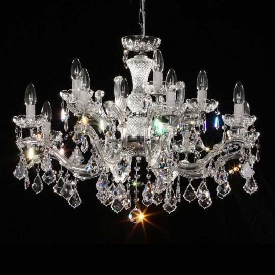 Lustra 12 brate cristal Swarovski diametru 80cm Constanze, Lustre Cristal Swarovski , Corpuri de iluminat, lustre, aplice a