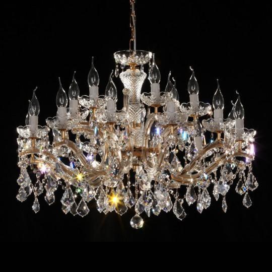 Lustra 18 brate cristal Swarovski diametru 80cm Constanze 18, Lustre Cristal Swarovski , Corpuri de iluminat, lustre, aplice a
