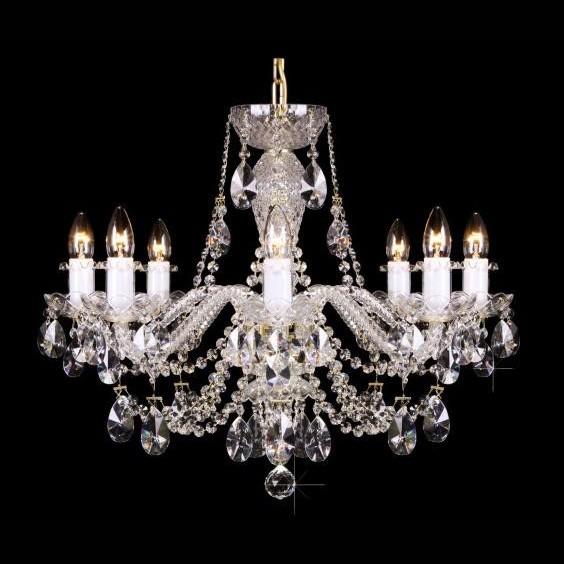 Lustra 8 brate cristal Bohemia L11 009/08/1-A; lip., Lustre Cristal Bohemia, Corpuri de iluminat, lustre, aplice, veioze, lampadare, plafoniere. Mobilier si decoratiuni, oglinzi, scaune, fotolii. Oferte speciale iluminat interior si exterior. Livram in toata tara.  a