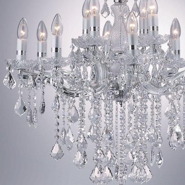 Candelabru 12 brate cristal Venezian FLORIAN SP12 CROMO 035604, Cele mai vandute Corpuri de iluminat, lustre, aplice, veioze, lampadare, plafoniere. Mobilier si decoratiuni, oglinzi, scaune, fotolii. Oferte speciale iluminat interior si exterior. Livram in toata tara.  a