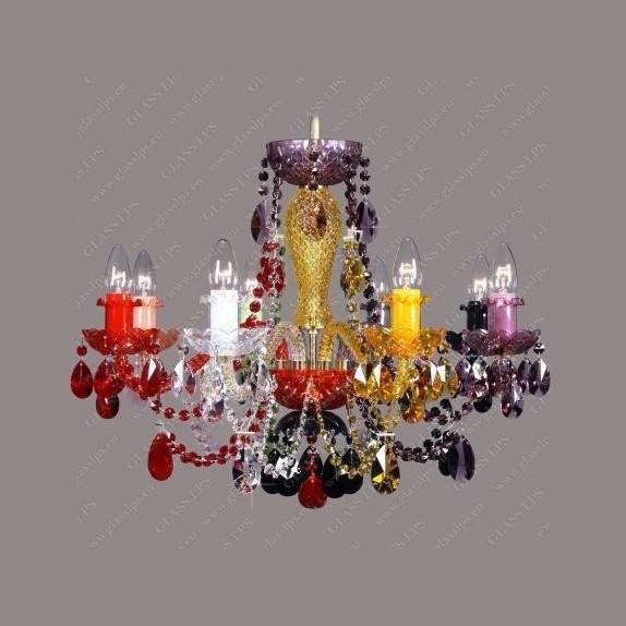 Lustra 8 brate cristal Bohemia L11 009/08/1-A; all color mix., Candelabre, Lustre Cristal Bohemia, Corpuri de iluminat, lustre, aplice, veioze, lampadare, plafoniere. Mobilier si decoratiuni, oglinzi, scaune, fotolii. Oferte speciale iluminat interior si exterior. Livram in toata tara.  a
