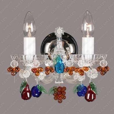 Aplica cristal Bohemia N24 065/02/(7, 8) color mix; Ni, Aplice Cristal Bohemia, Corpuri de iluminat, lustre, aplice, veioze, lampadare, plafoniere. Mobilier si decoratiuni, oglinzi, scaune, fotolii. Oferte speciale iluminat interior si exterior. Livram in toata tara.  a