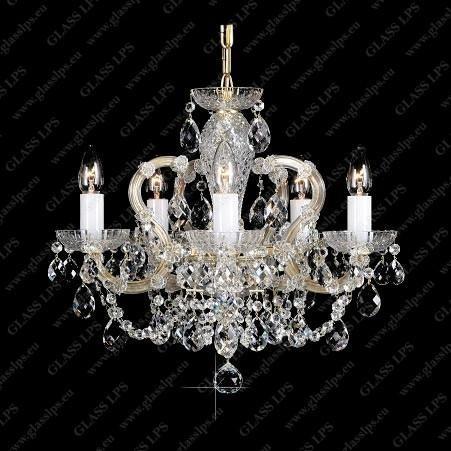 Lustra Maria Theresa cristal Bohemia L14 001/05/1, Candelabre, Lustre Cristal Bohemia, Corpuri de iluminat, lustre, aplice, veioze, lampadare, plafoniere. Mobilier si decoratiuni, oglinzi, scaune, fotolii. Oferte speciale iluminat interior si exterior. Livram in toata tara.  a
