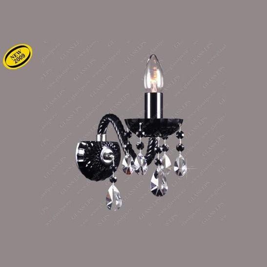 Aplica cristal Bohemia N21 808/01/1-A, 6 black; F black, PROMOTII, Corpuri de iluminat, lustre, aplice, veioze, lampadare, plafoniere. Mobilier si decoratiuni, oglinzi, scaune, fotolii. Oferte speciale iluminat interior si exterior. Livram in toata tara.  a