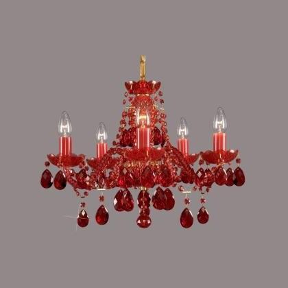 Lustra cristal Bohemia L11 010/05/1 all ruby, Candelabre, Lustre Cristal Bohemia, Corpuri de iluminat, lustre, aplice, veioze, lampadare, plafoniere. Mobilier si decoratiuni, oglinzi, scaune, fotolii. Oferte speciale iluminat interior si exterior. Livram in toata tara.  a