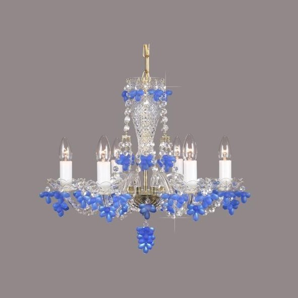 Lustra cristal Bohemia L11 005/06/7 sapphire mat, Candelabre, Lustre Cristal Bohemia, Corpuri de iluminat, lustre, aplice, veioze, lampadare, plafoniere. Mobilier si decoratiuni, oglinzi, scaune, fotolii. Oferte speciale iluminat interior si exterior. Livram in toata tara.  a