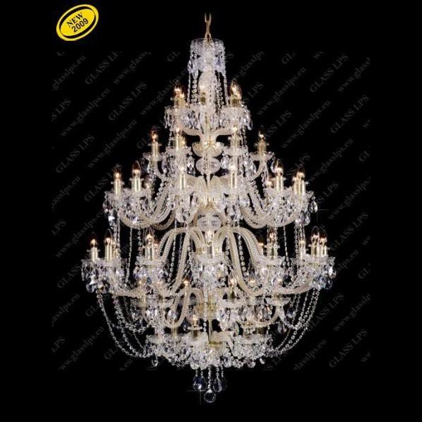 Lustra 48 brate cristal Bohemia L11 009/48/1-A; GOLD, lip., Candelabre, Lustre Cristal Bohemia, Corpuri de iluminat, lustre, aplice, veioze, lampadare, plafoniere. Mobilier si decoratiuni, oglinzi, scaune, fotolii. Oferte speciale iluminat interior si exterior. Livram in toata tara.  a
